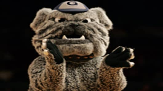 The Georgetown Hoyas mascot.