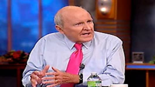 Jack Welch appears on Squawk Box.