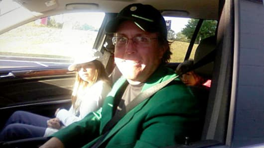 Masters champion Phil Mickelson showing up at an Augusta Krispy Kreme the day after he won.
