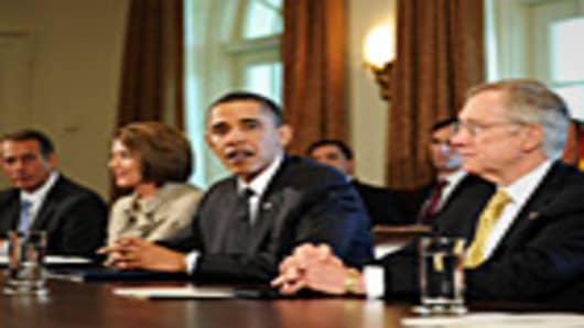 President Barack Obama speaks during a meeting on financial reform.