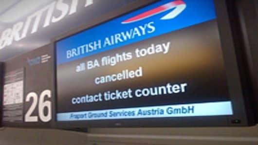 British Airways screen