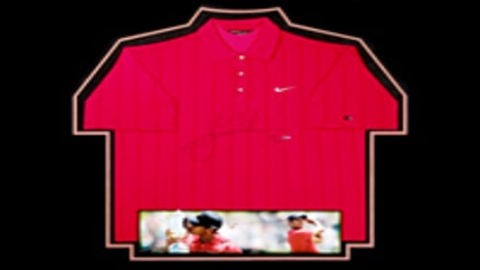 Tiger Woods Signed 2008 US Open Red Shirt