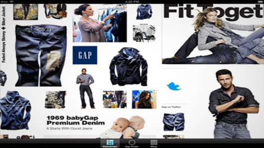 Gap's new iPad application