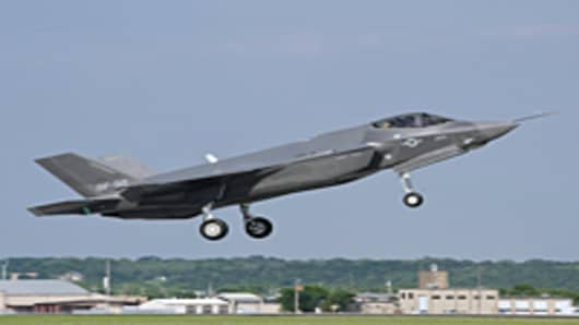 Lockheed Martin's F-35 making its maiden flight on April 20, 2010 in Fort Worth, Texas
