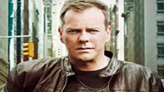 "Kiefer Sutherland as Jack Bauer in ""24"""