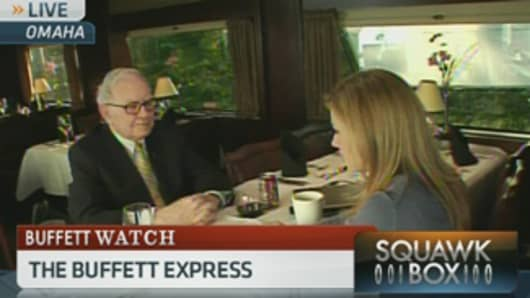 Warren Buffett and Becky Quick on CNBC's Squawk Box