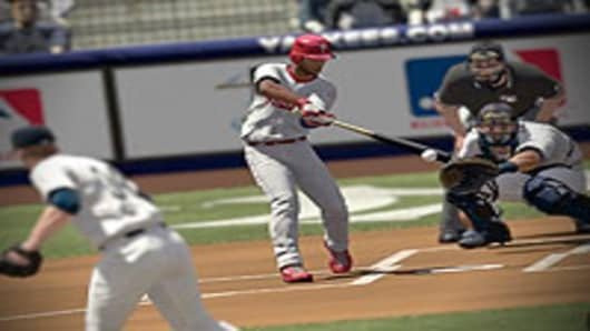 A screen capture from MLB 2K10