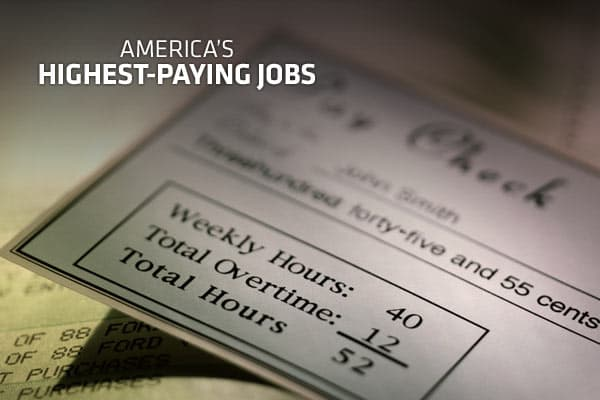 Looking for a bigger paycheck? If you're not in the medical industry, you're pretty much out of luck. Health care jobs, ranging from dentists to surgeons, dominate the list of the 20 highest paying jobs, but there are some others sprinkled in. Click ahead for the jobs that pulled the highest pay last year, according to the Bureau of Labor Statistics .