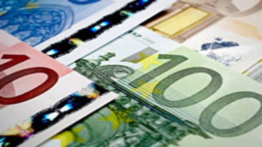 Euros at an angle