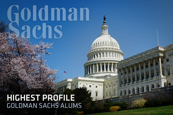 Goldman Sachs alums have an extensive history of being closely tied to Washington politics. From Sidney Weinberg in 1907 to Hank Paulson's central role during the 2008 financial crisis, Goldman alums have been deeply involved in government affairs. When the firm's success is correlated with influential positions of its alumni, conspiracy theorists speculate that there is a deep-seeded - or even corrupt - connection between the government and the elite Wall Street firm. On the other hand, Goldman