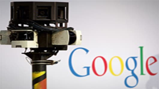 The camera of a German Google Street View car