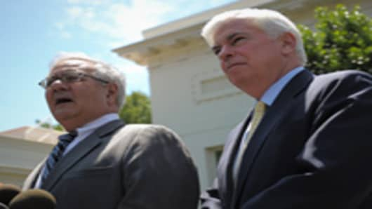 House Financial Services Committee Chairman Rep Barney Frank and Senate Banking Committee Chairman Senator Chris Dodd.