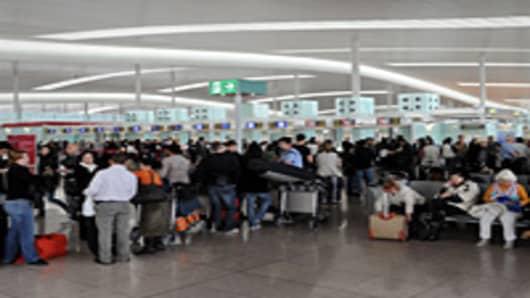 Stranded airline passengers