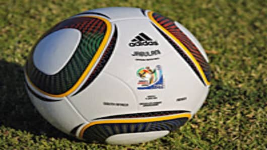 The match ball for the opening World Cup fixture between South Africa and Mexico.
