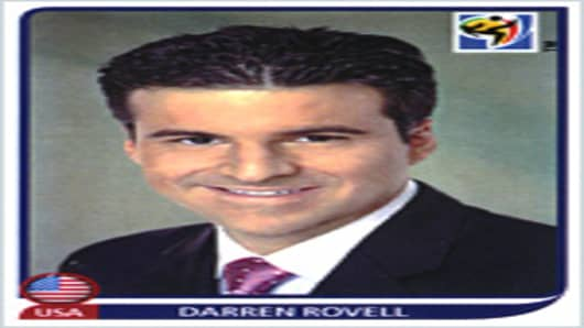 Darren Rovell 2010 World Cup sticker by Panini