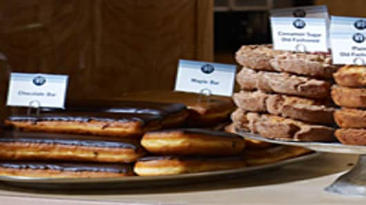 Top Pot Doughnuts' maple bars & doughnuts