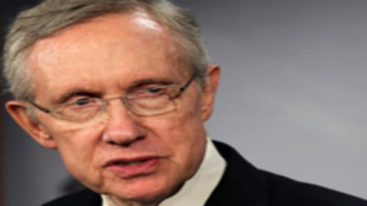 US Senate Majority Leader, Senator Harry Reid