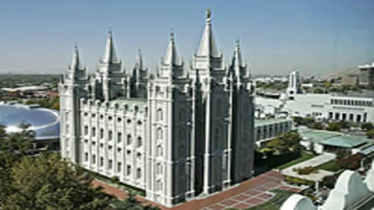 The Mormon Tabernacle in Salt Lake City, Utah.
