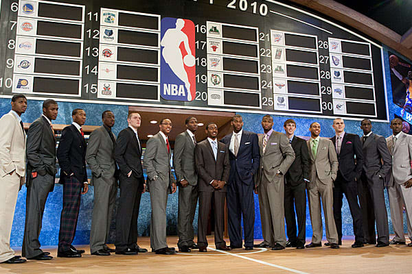 The NBA has put in place a pay scale that guarantees the first two years of salary for all players selected in the first round of the draft at a fixed dollar amount tied to what slot the player was picked at.