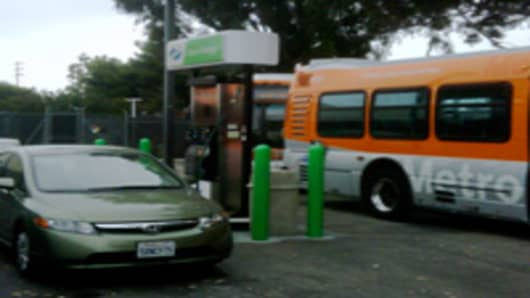 CNG Station in Santa Monica
