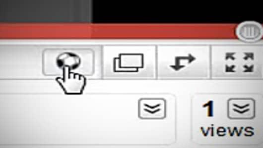 Closeup of the Soccer button