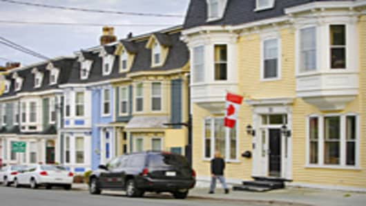 Victorian houses in St. John' s, Newfoundland