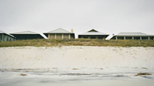 Row of beach houses