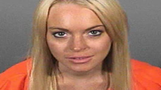 Lindsay Lohan's booking photo.