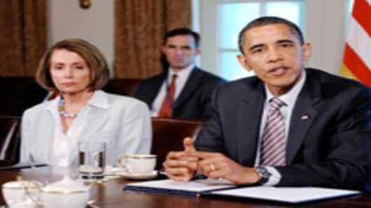 President Barack Obama and House Speaker Nancy Pelosi