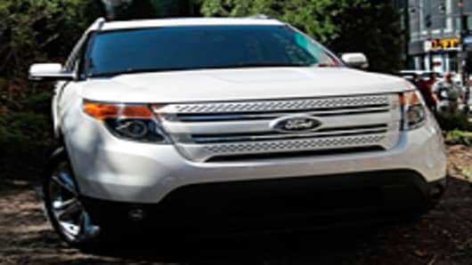 The new 2011 Ford Explorer SUV touts a sleek newly designed look that the company hopes will attract new buyers to the venerable SUV line.