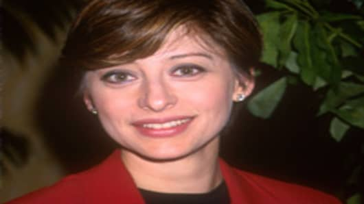Maria Bartiromo of CNBC attends The Variety/Schroders Big Picture Media Conference, April 4, 2000.