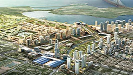 Gale International's Songdo City in Korea