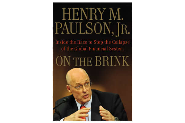 "There are many books written about the global economy's collapse by those who can quote 'inside' sources . But the ultimate 'insider,' former Treasury secretary Henry Paulson, tells his story in ""On the Brink Inside the Race to Stop the Collapse of the Global Financial System."" Paulson lays out the decisions and reasoning for sacrificing Fannie and Freddie, bailing out Wall Street financial firms and the controversial rescue of AIG – a company who's seemingly incompetent management perplexed and"