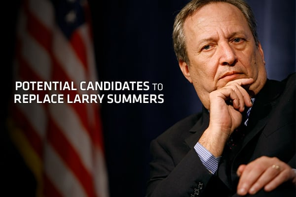 On September 21st, Larry Summers announced that he would resign as Chairman of the National Economic Council by the end of the year, marking the third member of President Obama's team of economic advisors to leave the administration in recent months. As Summers returns to a teaching job at Harvard University, the vacuum created by his departure begs the question – who will fill the position? The answer could have a far-reaching impact on the economy, and it pays to know who will help guide the p
