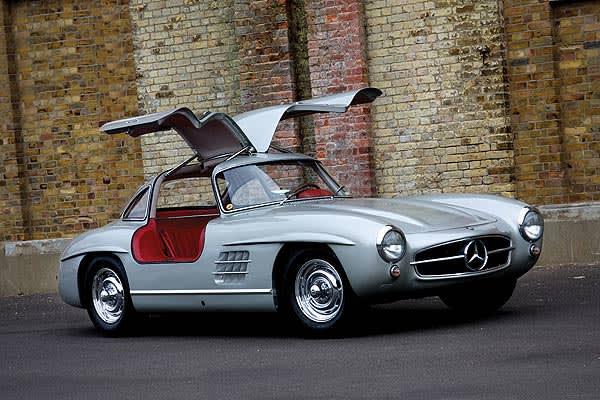 : £350,000-£400,000 ($553,990-$633,132) When the 300SL was debuted in New York in 1954, it was the first Mercedes to bypass Germany and be introduced in the United States. They sold for $6,820 at the time. This model, with a red - leather interior and celebrated gull-wing doors, is one of only 1,400 built.
