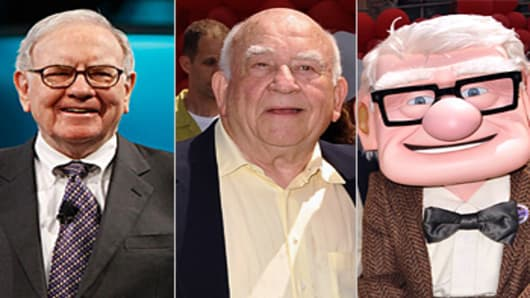 Warren Buffett, Ed Asner And Carl Fredricksen