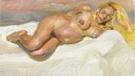 Eight Months Gone, Lucian Freud
