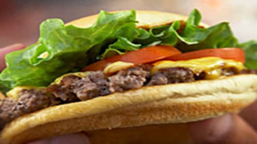 The signature ShackBurger from Shake Shack.