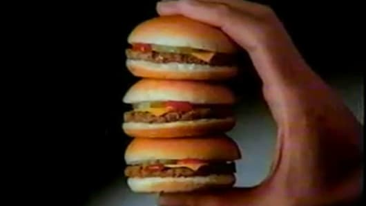 A slider is a very small hamburger, meant for frenzied consumption in multiple quantities. You don't order one, or even three --- you order ten and devour all of them in less than three minutes, preferably while you're still in your car at the franchise's parking lot. In the summer of1987, Burger King introduced their own sliders, Burger Bundles, and they did a booming business, particularly among teenagers and late night customers. Despite the Burger Bundles' popularity, preparing them was more