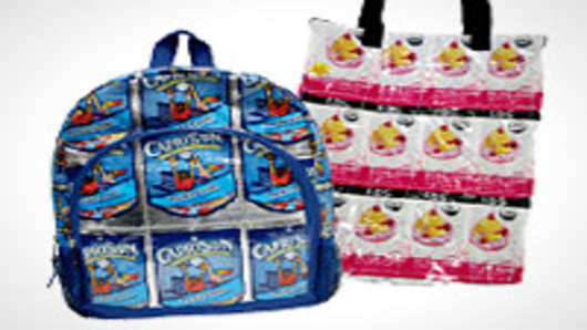 TerraCycle backpacks, made from juice pouches