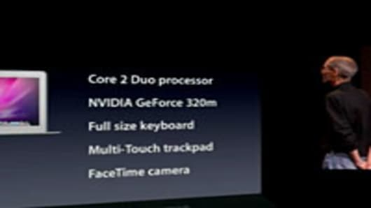 The features of the 11.6 Inch Macbook Air.