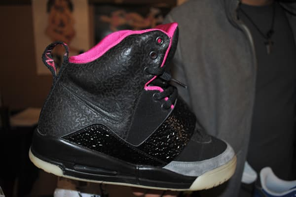 : $650 Designed by rap star Kanye West for Nike, these all black sneakers with a neon pink interior usually run about $1,100 for a brand new pair, said collector Will Debord of . Debord was offering them at a $450 discount since they had been worn.