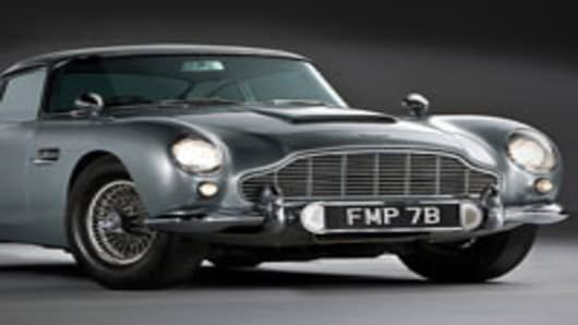 1964 Aston Martin DB5, estimated at over $5.5 million.