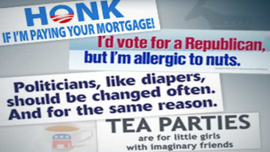 Funny 2010 Election Bumper Stickers