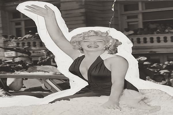 Estimated value: $10,000-15,000 Photographer: Unknown Gelatin silver print, December 1953 Marilyn Monroe was an iconic sexual symbol in the 1950's, and her appearances in Playboy magazine helped solidify her in this role. The December 1953 issue was the first Playboy magazine ever released, and Monroe graced the cover. The photo was used to tease readers into the magazine, promising nude photos of Monroe, which included the controversial and now infamous shots from a 1949 photo shoot. The photo