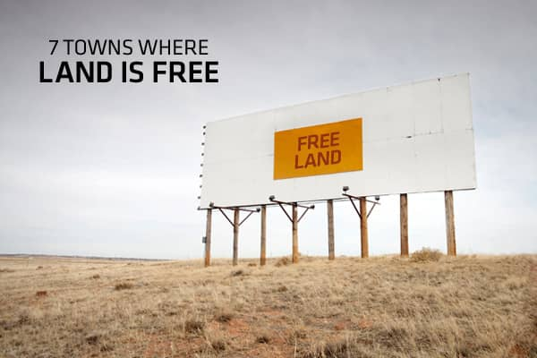7 towns where land is free