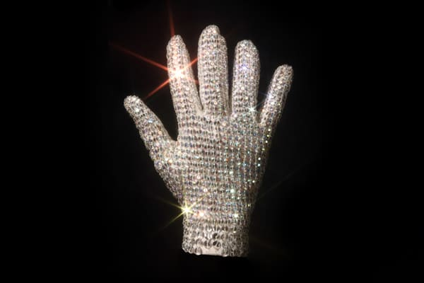 "Estimate: $20,000-$30,000 The shiny glove is one of the most recognizable in pop culture history, and forever be linked to Michael Jackson. This Swarovski-crystal-studded glove is one of four that were used during the King of Pop's ""Bad Tour"" in the late 1980s. Julien's Auctions sold another crystal glove this past summer for $190,000, ten times the estimated value."