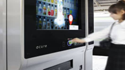 The Acure vending machine uses facial recognition to recommend drinks to buyers.
