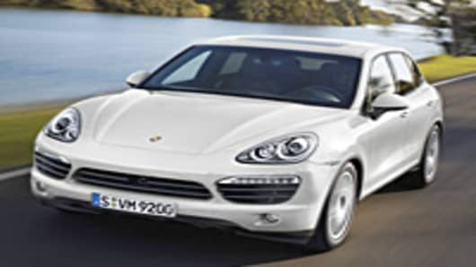 The Porsche Cayenne Hybrid for 2011.