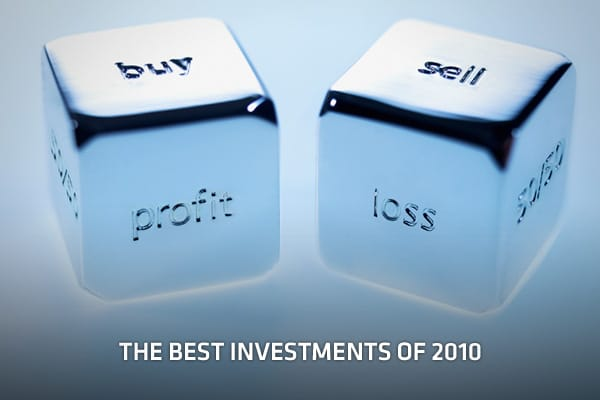 2010 was an interesting year for investors, and for the most part, the big money was made in some of the more non-traditional places. The following slides reveal the best investments in each category, from stocks and commodities to currencies and companies with the best cash flows. If you made some of these investments, you were on the right track. If not, lessons learned in 2010 could prove profitable in the year ahead. All numbers are as of market open on December 30th. So, what were the best